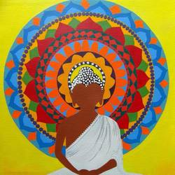 the light within, 17 x 21 inch, divya bhagat,paintings,buddha paintings,religious paintings,paintings for living room,paintings for hotel,canvas,acrylic color,17x21inch,GAL0610314392