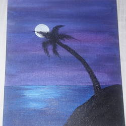 moon lit night, 10 x 12 inch, aaliya virani,paintings,landscape paintings,realistic paintings,paintings for living room,paintings for bedroom,paintings for office,paintings for living room,paintings for bedroom,paintings for office,canvas board,acrylic color,10x12inch,GAL0611514411