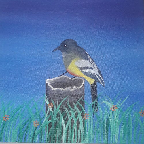 bird on the trunk, 10 x 12 inch, aaliya virani,paintings,wildlife paintings,landscape paintings,nature paintings,paintings for dining room,paintings for living room,paintings for bedroom,paintings for office,paintings for hotel,paintings for dining room,paintings for living room,paintings for bedroom,paintings for office,paintings for hotel,canvas,acrylic color,10x12inch,GAL0611514412Nature,environment,Beauty,scenery,greenery