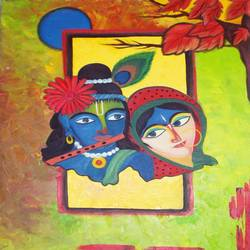 love in music , 24 x 30 inch, ambika srivastava,radha krishna paintings,paintings for dining room,paintings for living room,paintings for bedroom,paintings for office,paintings for hotel,paintings for dining room,paintings for living room,paintings for bedroom,paintings for office,paintings for hotel,canvas,oil,24x30inch,GAL0326314432,radhakrishna,love,pece,lordkrishna,,lordradha,peace,flute,music,radha,krishna
