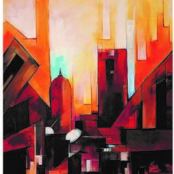 city varanasi , 30 x 24 inch, ra foundation mumbai,abstract paintings,modern art paintings,conceptual paintings,paintings for dining room,paintings for living room,paintings for bedroom,paintings for office,paintings for bathroom,paintings for hotel,paintings for hospital,canvas board,acrylic color,30x24inch,GAL0612614439