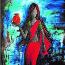 water of ganga , 24 x 30 inch, ra foundation mumbai,abstract paintings,figurative paintings,conceptual paintings,portrait paintings,art deco paintings,illustration paintings,paintings for dining room,paintings for living room,paintings for bedroom,paintings for office,paintings for kids room,paintings for hotel,paintings for kitchen,paintings for school,paintings for hospital,canvas board,acrylic color,24x30inch,GAL0612614444