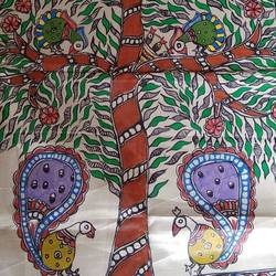 madhubani painting art on silk, 10 x 3 inch, uma kumari jha,folk art paintings,landscape paintings,modern art paintings,street art,ganesha paintings,animal paintings,radha krishna paintings,paintings for dining room,paintings for living room,paintings for bedroom,paintings for office,paintings for bathroom,paintings for kids room,paintings for hotel,paintings for kitchen,paintings for school,paintings for hospital,paintings for dining room,paintings for living room,paintings for bedroom,paintings for office,paintings for bathroom,paintings for kids room,paintings for hotel,paintings for kitchen,paintings for school,paintings for hospital,madhubani paintings,silk,acrylic color,fabric,natural color,10x3inch,GAL0449914447,krishna,love,pece,lordkrishna,lord,peace,krishna,devotion,couple,vinayak,ekadanta,ganpati,lambodar,peace,devotion,religious,lord ganesha,lordganpati