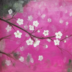 blossoms, 13 x 10 inch, poornima  v,paintings,flower paintings,nature paintings,paintings for living room,paintings for bedroom,paintings for kids room,canvas,acrylic color,13x10inch,GAL0613314454Nature,environment,Beauty,scenery,greenery