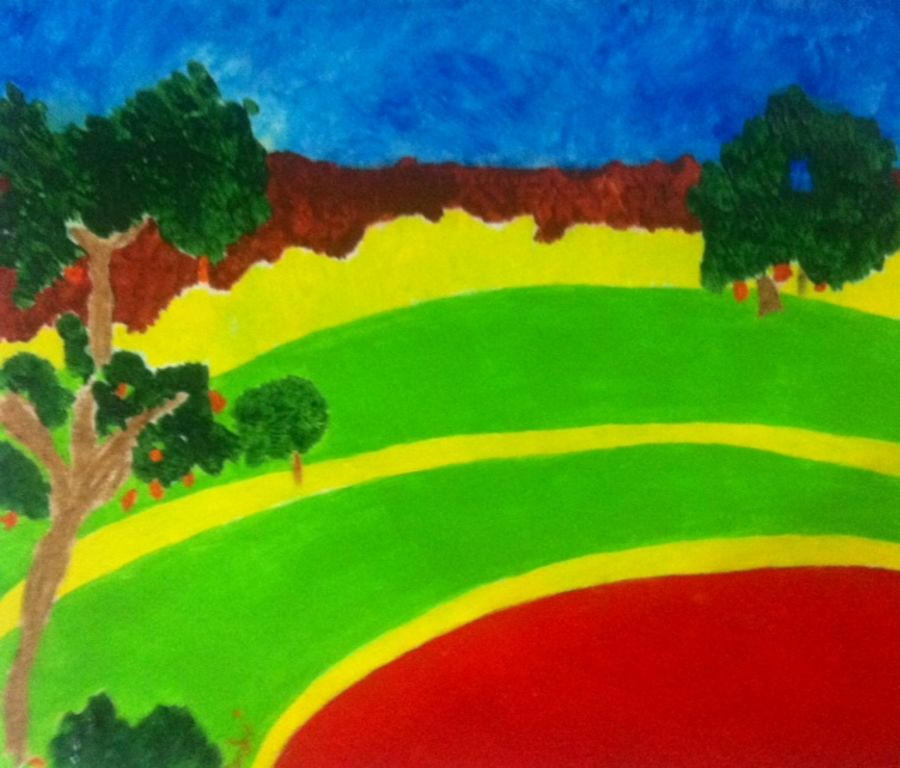 no.435, 14 x 11 inch, vijayan kannampilly ,landscape paintings,paintings for living room,thick paper,acrylic color,14x11inch,GAL05991446