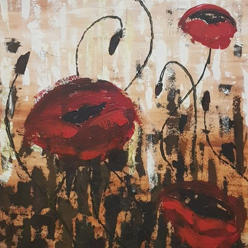 poppy, 30 x 36 inch, sanjeev mishra,paintings,abstract paintings,paintings for dining room,paintings for living room,paintings for office,paintings for hotel,paintings for dining room,paintings for living room,paintings for office,paintings for hotel,canvas,acrylic color,30x36inch,GAL0582314468