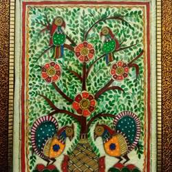 madhuban, 14 x 18 inch, deepti agrawal,folk art paintings,flower paintings,nature paintings,paintings for dining room,paintings for living room,paintings for bedroom,paintings for hotel,paintings,madhubani paintings,paintings for office,paintings for kids room,paintings for school,acrylic glass,mixed media,14x18inch,GAL0596814478Nature,environment,Beauty,scenery,greenery