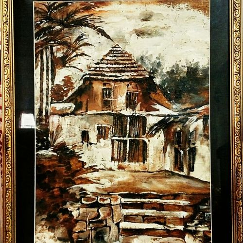 haunted house., 11 x 15 inch, shreyasi nag dutta,cityscape paintings,paintings for living room,paintings for office,paintings for hotel,paintings for living room,paintings for office,paintings for hotel,cartridge paper,acrylic color,charcoal,mixed media,oil,pen color,graphite pencil,11x15inch,GAL0617114484