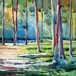morning light, 15 x 21 inch, raji p,landscape paintings,paintings for living room,fabriano sheet,watercolor,15x21inch,GAL05901451