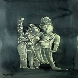khajuraho 2, 11 x 15 inch, ravi patel,paintings,figurative paintings,love paintings,paintings for living room,paintings for bedroom,paintings for hotel,fabriano sheet,watercolor,11x15inch,GAL0578914519heart,family,caring,happiness,forever,happy,trust,passion,romance,sweet,kiss,love,hugs,warm,fun,kisses,joy,friendship,marriage,chocolate,husband,wife,forever,caring,couple,sweetheart
