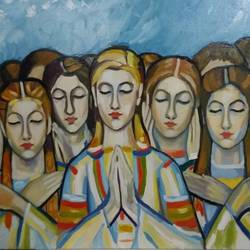 silent prayer, 27 x 39 inch, ivelina sharma,paintings,figurative paintings,modern art paintings,conceptual paintings,impressionist paintings,paintings for dining room,paintings for living room,paintings for bedroom,paintings for office,paintings for hotel,paintings for dining room,paintings for living room,paintings for bedroom,paintings for office,paintings for hotel,canvas,oil,27x39inch,GAL0621414546