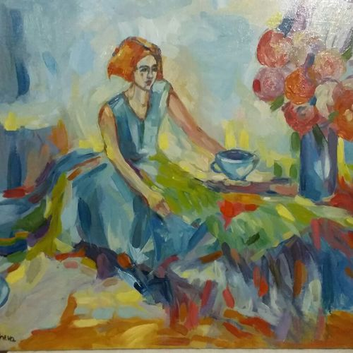 dream, 26 x 31 inch, ivelina sharma,paintings,abstract paintings,figurative paintings,modern art paintings,expressionist paintings,paintings for living room,paintings for bedroom,canvas,oil,26x31inch,GAL0621414547