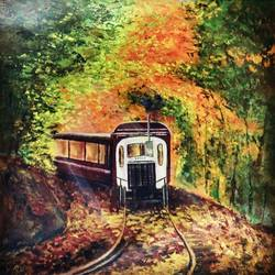 yellow lily bloom, 22 x 11 inch, pranita a,paintings,abstract paintings,flower paintings,art deco paintings,paintings for dining room,paintings for living room,paintings for bedroom,paintings for office,paintings for bathroom,paintings for kids room,paintings for hotel,paintings for kitchen,paintings for school,paintings for hospital,thick paper,acrylic color,22x11inch,GAL0623214574