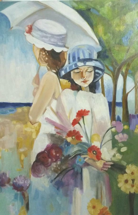 memories from summer, 24 x 36 inch, ivelina sharma,children paintings,paintings for living room,paintings for bedroom,paintings for kids room,paintings for dining room,canvas,oil,24x36inch,GAL0621414590