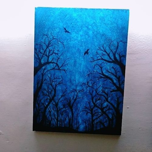 silhouette of trees, 18 x 24 inch, amita  arya,paintings,nature paintings,paintings for dining room,paintings for living room,paintings for hotel,paintings for school,paintings for dining room,paintings for living room,paintings for hotel,paintings for school,canvas,watercolor,18x24inch,GAL0624214594Nature,environment,Beauty,scenery,greenery