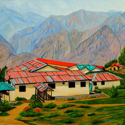 rising high, 40 x 30 inch, ajay harit,paintings,landscape paintings,nature paintings,photorealism paintings,realism paintings,realistic paintings,paintings for dining room,paintings for living room,paintings for office,paintings for school,paintings for hospital,expressionist paintings,photorealism,paintings for hotel,canvas,oil,40x30inch,GAL0199814610Nature,environment,Beauty,scenery,greenery