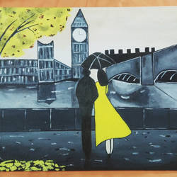 london love, 22 x 24 inch, reshma chandra,paintings,figurative paintings,landscape paintings,canvas,acrylic color,22x24inch,GAL0628614638