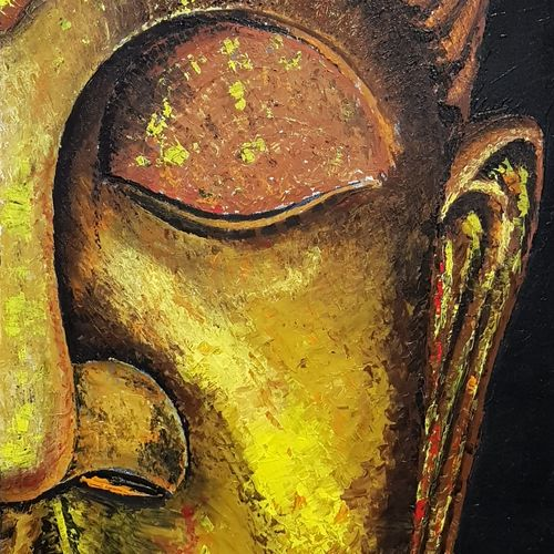 peace, 24 x 36 inch, sanjeev mishra,buddha paintings,paintings for dining room,paintings for living room,paintings for bedroom,paintings for office,paintings for hotel,canvas,acrylic color,24x36inch,GAL0582314652