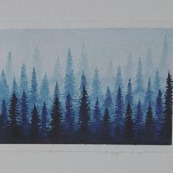 forest watercolor, 5 x 4 inch, priyanka mehta,nature paintings,paintings for living room,paintings for bedroom,brustro watercolor paper,watercolor,5x4inch,GAL0631314664Nature,environment,Beauty,scenery,greenery