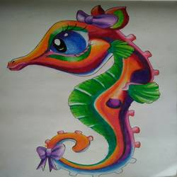 colourful sea horse, 15 x 11 inch, asmita tiwari,paintings,kids paintings,paintings for living room,paintings for kids room,paintings for school,paintings for living room,paintings for kids room,paintings for school,drawing paper,pastel color,15x11inch,GAL0603314674