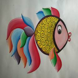 fish, 15 x 11 inch, asmita tiwari,paintings,abstract paintings,wildlife paintings,paintings for living room,paintings for bedroom,paintings for kids room,paintings for living room,paintings for bedroom,paintings for kids room,drawing paper,poster color,15x11inch,GAL0603314679
