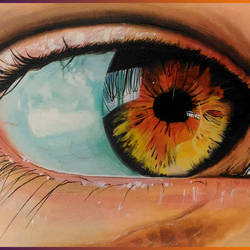 eye, 12 x 16 inch, bijoy  bhattacharjee,paintings,realistic paintings,paintings for dining room,paintings for living room,paintings for bedroom,canvas,acrylic color,12x16inch,GAL0632714688