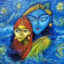 krishna - the lover, 18 x 14 inch, deepa  p,paintings,impressionist paintings,radha krishna paintings,love paintings,paintings for dining room,paintings for living room,paintings for bedroom,paintings for office,paintings for hotel,paintings for school,paintings for hospital,paintings for dining room,paintings for living room,paintings for bedroom,paintings for office,paintings for hotel,paintings for school,paintings for hospital,canvas,acrylic color,18x14inch,GAL0600614690,radhakrishna,love,pece,lordkrishna,lordradha,peace,radha,krishna,devotion,coupleheart,family,caring,happiness,forever,happy,trust,passion,romance,sweet,kiss,love,hugs,warm,fun,kisses,joy,friendship,marriage,chocolate,husband,wife,forever,caring,couple,sweetheart
