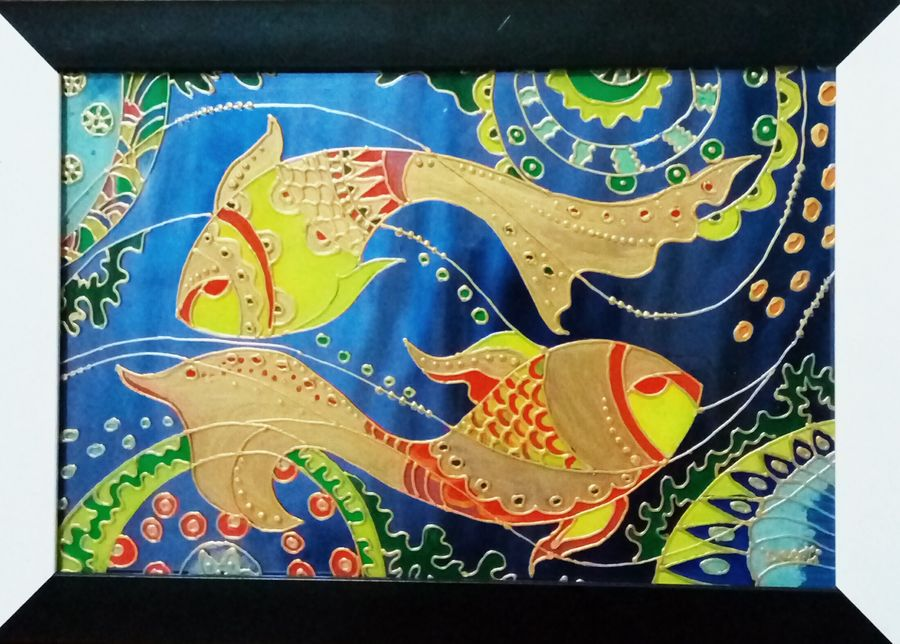 fish, 10 x 15 inch, deepti agrawal,modern art paintings,nature paintings,surrealist paintings,contemporary paintings,paintings for office,paintings for hotel,acrylic glass,mixed media,10x15inch,GAL0596814691Nature,environment,Beauty,scenery,greenery