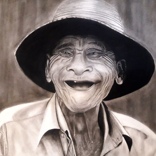 the old man, 33 x 27 inch, mrinalini pandey,abstract drawings,abstract expressionist drawings,figurative drawings,paintings for dining room,paintings for living room,paintings for bedroom,paintings for office,paintings for hotel,cartridge paper,charcoal,33x27inch,GAL0493014696