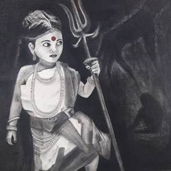 the untold strength : girl child, 28 x 35 inch, mrinalini pandey,drawings,paintings for dining room,paintings for living room,paintings for hotel,paintings for school,conceptual drawings,expressionist drawings,figurative drawings,fine art drawings,impressionist drawings,realism drawings,paintings for dining room,paintings for living room,paintings for hotel,paintings for school,handmade paper,charcoal,28x35inch,GAL0493014698
