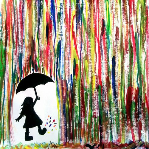 colorful rainfall, 11 x 14 inch, archana a,paintings for dining room,paintings for living room,paintings for kids room,paintings for school,paintings for hospital,abstract drawings,kids drawings,paintings for dining room,paintings for living room,paintings for kids room,paintings for school,paintings for hospital,drawing paper,acrylic color,watercolor,11x14inch,GAL0637314753