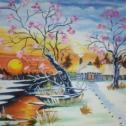 beautiful landscape, 22 x 15 inch, sandhya kumari,paintings,wildlife paintings,flower paintings,nature paintings,paintings for dining room,paintings for living room,paintings for bedroom,paintings for office,paintings for kids room,paintings for hotel,paintings for school,paintings for hospital,handmade paper,watercolor,22x15inch,GAL0365914766Nature,environment,Beauty,scenery,greenery
