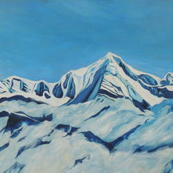 snowy peaks, 54 x 36 inch, ajay harit,paintings,landscape paintings,nature paintings,impressionist paintings,photorealism paintings,photorealism,paintings for dining room,paintings for living room,paintings for office,paintings for hotel,paintings for school,paintings for hospital,paintings for dining room,paintings for living room,paintings for office,paintings for hotel,paintings for school,paintings for hospital,canvas,oil,54x36inch,GAL0199814772Nature,environment,Beauty,scenery,greenery