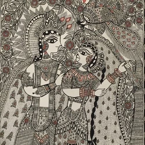 madhubani - radha krishna, 20 x 24 inch, pratibha kiran,folk art paintings,love paintings,paintings for dining room,paintings for living room,paintings for bedroom,paintings for office,paintings for hotel,paintings for dining room,paintings for living room,paintings for bedroom,paintings for office,paintings for hotel,madhubani paintings,paintings,religious paintings,radha krishna paintings,handmade paper,acrylic color,20x24inch,GAL0639514774,radhakrishna,love,pece,lordkrishna,lordradha,peace,radha,krishna,devotion,couple,flute,musicheart,family,caring,happiness,forever,happy,trust,passion,romance,sweet,kiss,love,hugs,warm,fun,kisses,joy,friendship,marriage,chocolate,husband,wife,forever,caring,couple,sweetheart