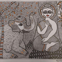 madhubani, 18 x 24 inch, pratibha kiran,buddha paintings,folk art paintings,paintings for dining room,paintings for living room,paintings for bedroom,paintings for office,paintings for kids room,paintings for hotel,paintings for kitchen,paintings for school,paintings for hospital,paintings for dining room,paintings for living room,paintings for bedroom,paintings for office,paintings for kids room,paintings for hotel,paintings for kitchen,paintings for school,paintings for hospital,madhubani paintings,handmade paper,acrylic color,18x24inch,GAL0639514779