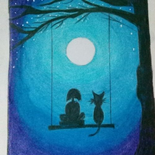 moonlit buddy, 8 x 11 inch, puspita chakraborty,love paintings,baby paintings,kids paintings,paintings for dining room,paintings for living room,paintings for bedroom,paintings for office,paintings for kids room,kids drawings,paintings for dining room,paintings for living room,paintings for bedroom,paintings for office,paintings for kids room,paper,pastel color,8x11inch,GAL0638314782heart,family,caring,happiness,forever,happy,trust,passion,romance,sweet,kiss,love,hugs,warm,fun,kisses,joy,friendship,marriage,chocolate,husband,wife,forever,caring,couple,sweetheart
