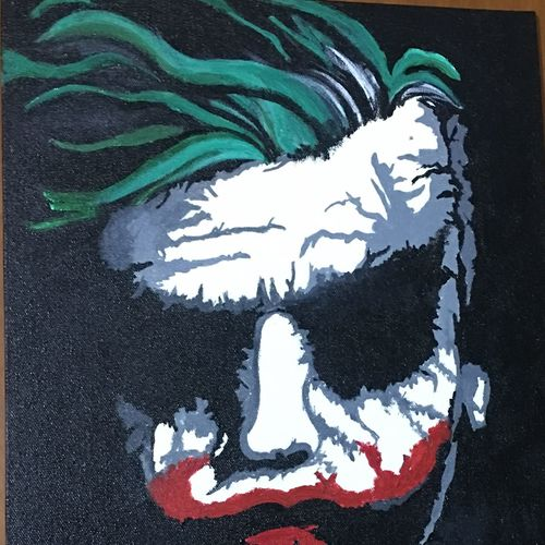 joker, 12 x 16 inch, ron haribabu,paintings,abstract paintings,canvas,acrylic color,12x16inch,GAL0641014804
