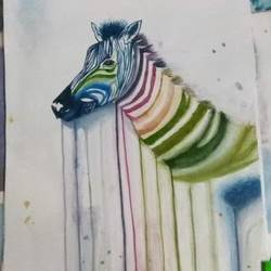 abstract zebra, 11 x 15 inch, puspita chakraborty,paintings,abstract paintings,baby paintings,kids paintings,paintings for dining room,paintings for living room,paintings for kids room,paintings for school,paper,watercolor,11x15inch,GAL0638314840