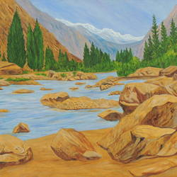 alaknanda in majestic form, 40 x 30 inch, ajay harit,paintings,landscape paintings,nature paintings,expressionist paintings,photorealism paintings,photorealism,realism paintings,realistic paintings,paintings for dining room,paintings for living room,paintings for bedroom,paintings for office,paintings for hotel,paintings for school,paintings for hospital,paintings for dining room,paintings for living room,paintings for bedroom,paintings for office,paintings for hotel,paintings for school,paintings for hospital,canvas,oil,40x30inch,GAL0199814845Nature,environment,Beauty,scenery,greenery