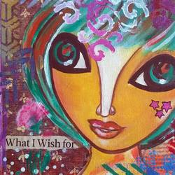 what i wish for, 8 x 8 inch, baljeet  panaich,pop art paintings,paintings for living room,canvas,mixed media,8x8inch,GAL06081485