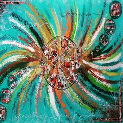 dream catcher, 33 x 23 inch, babita maheswary,paintings,abstract paintings,canvas,acrylic color,33x23inch,GAL0329514851