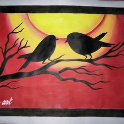 bird fantacy, 24 x 12 inch, purandar tandi,paintings for living room,paintings for bedroom,paintings for kids room,paintings for school,conceptual drawings,paintings for living room,paintings for bedroom,paintings for kids room,paintings for school,drawing paper,acrylic color,ink color,24x12inch,GAL0647814870