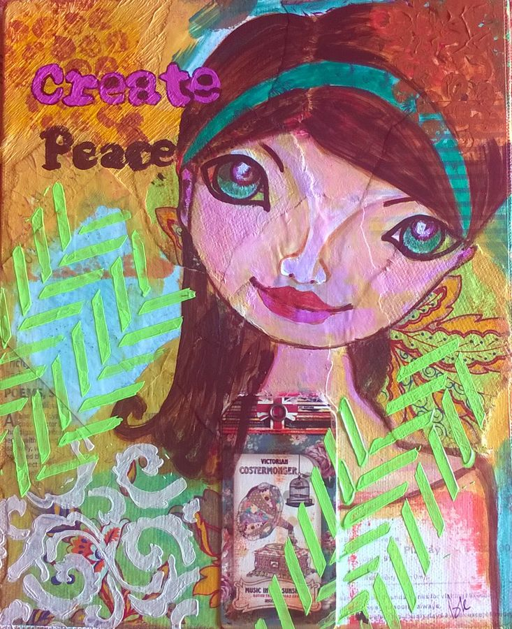 peace, 8 x 10 inch, baljeet  panaich,pop art paintings,paintings for living room,canvas,mixed media,8x10inch,GAL06081489