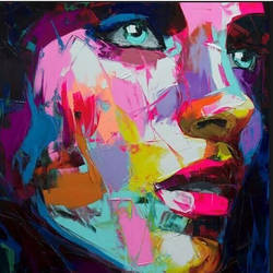thoughts of girl , 40 x 48 inch, sunita  singh,abstract paintings,paintings,canvas,fabric,40x48inch,GAL0644014899