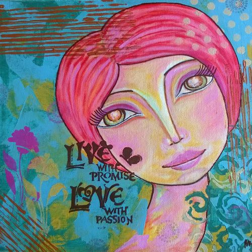 live, 10 x 12 inch, baljeet  panaich,pop art paintings,paintings for living room,canvas,mixed media,10x12inch,GAL06081490