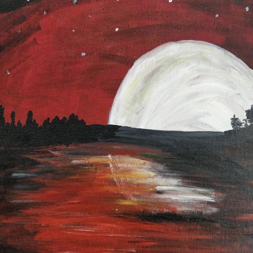 moonlight, 16 x 20 inch, aishwarya pesala,paintings,modern art paintings,paintings for dining room,paintings for living room,paintings for bedroom,paintings for office,paintings for hotel,paintings for dining room,paintings for living room,paintings for bedroom,paintings for office,paintings for hotel,canvas,acrylic color,16x20inch,GAL0649814901