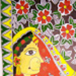 padmavati madhubani, 11 x 15 inch, puspita chakraborty,folk art paintings,paintings for dining room,paintings for living room,paintings for bedroom,paintings for office,paintings for kids room,paintings for hotel,paintings for hospital,paintings for dining room,paintings for living room,paintings for bedroom,paintings for office,paintings for kids room,paintings for hotel,paintings for hospital,madhubani paintings,paper,pen color,watercolor,11x15inch,GAL0638314912