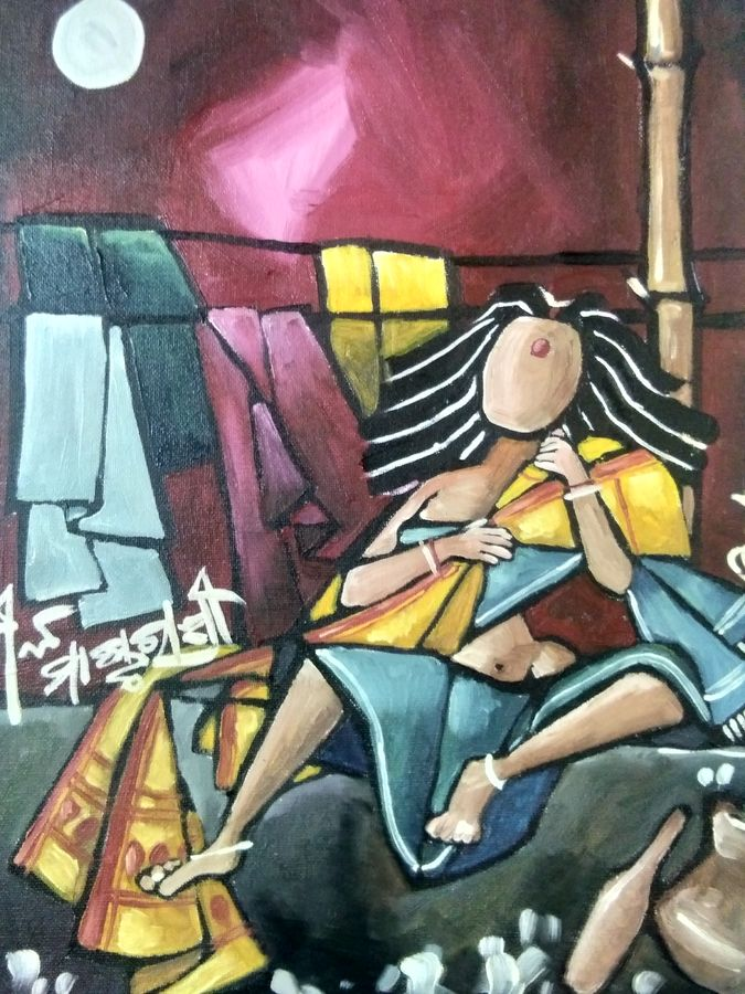 nila mastarani , 12 x 16 inch, anup das,figurative paintings,modern art paintings,conceptual paintings,portrait paintings,abstract expressionist paintings,cubist paintings,expressionist paintings,impressionist paintings,pop art paintings,street art,love paintings,paintings for dining room,paintings for living room,paintings for bedroom,paintings for hotel,paintings for dining room,paintings for living room,paintings for bedroom,paintings for hotel,canvas board,oil,12x16inch,GAL0653314930