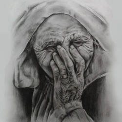 sorrowful woman, 12 x 20 inch, akash  dey,paintings,figurative paintings,realistic paintings,paintings for living room,thick paper,graphite pencil,12x20inch,GAL0655514951