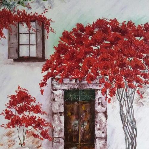 glorious abound, 35 x 20 inch, shilpi singh patel,nature paintings,paintings for living room,paintings,canvas,oil,35x20inch,GAL04551499Nature,environment,Beauty,scenery,greenery